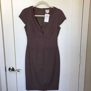 Reiss Brown Sheath Dress with Cowl Neck US 6